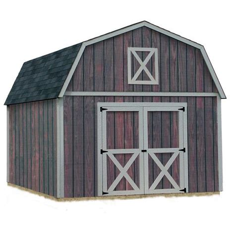 ft   ft outdoor wood storage tool shed gambrel barn