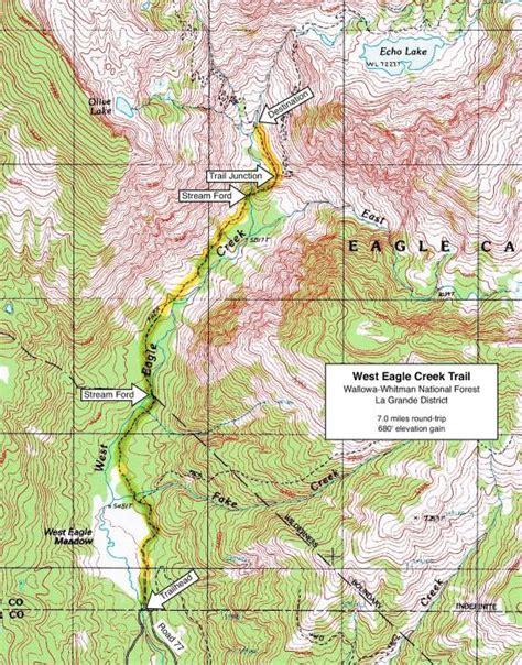 map of oregon eagle creek west eagle creek trail