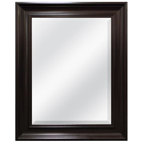 espresso mirror bathroom shop style selections espresso beveled wall mirror at