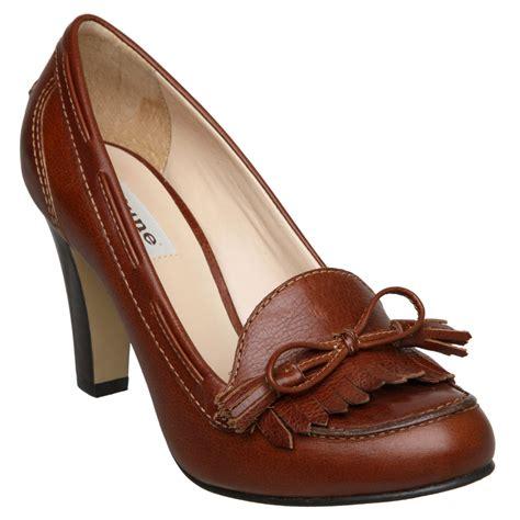 womens high heel loafers new dune womens asterix d brown high heel