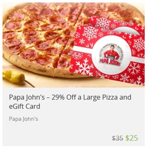 Free Papa John S Gift Card - 25 papa john s gift card large pizza only 20 mamas on a dime