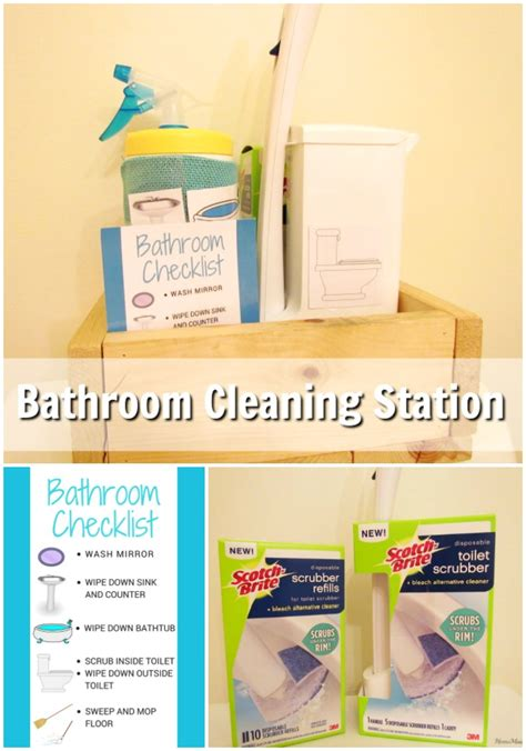 kids can clean the bathrooms teaching kids to clean with a bathroom cleaning station