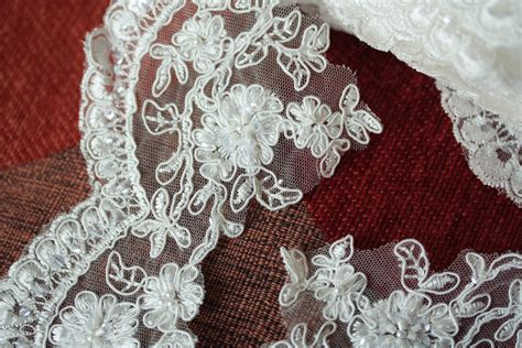 beaded lace trim beaded white or ivory bridal lace trim by millinerysupply