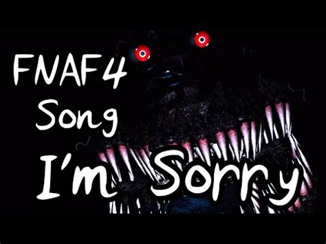 five nights at freddy's songs lyrics book i'm sorry