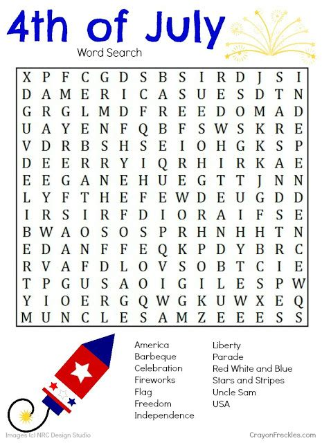 printable 4th of july games crayonfreckles 4th of july word search free printable