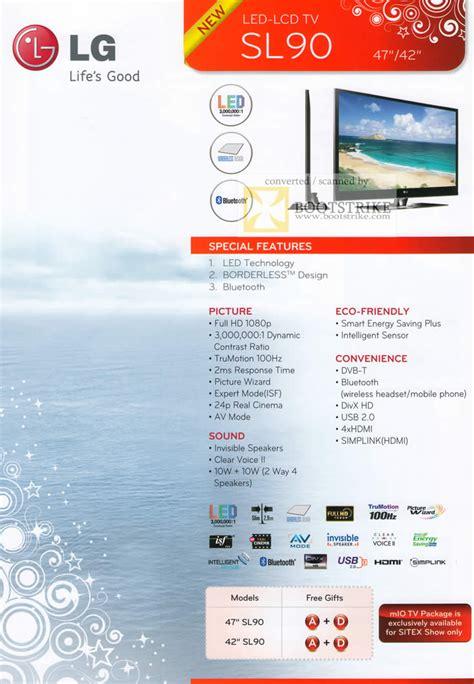 Tv Led Lg Sl90 lg led lcd tv sl90 c3 2009 price list brochure flyer image