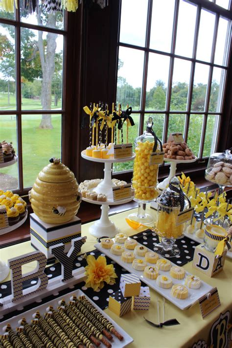 Bee Baby Shower Theme by Blissful Bumble Bee Baby Shower Baby Shower Ideas