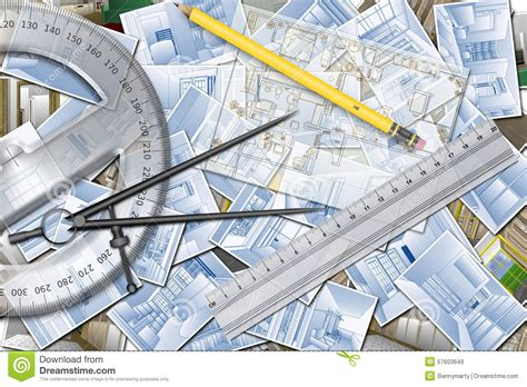 Home Plan Project Design Resources Home Design Planning Stock Illustration Image 57603649