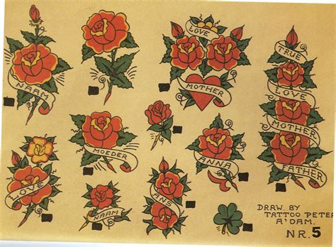 roses old school tattoo 6 exles of great school flash genres