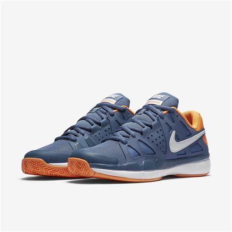 nike mens tennis shoes nike mens air vapor advantage tennis shoes blue citrus