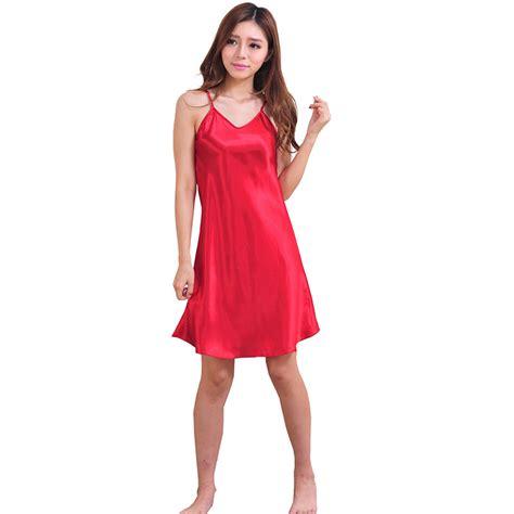 Dress Sleepwear Satin satin silk robe dress sleepwear