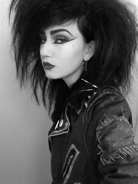 hairstyle punk skater cut 1980s 80 s goth babe love great big hair you re not punk and