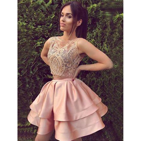 Mini Dress Two mini prom dresses pink mini dresses mini two