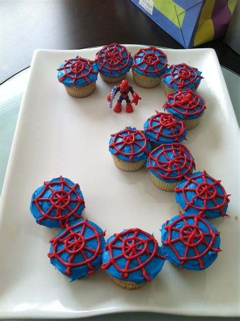 cake ideas for 3 year boy spider cupcake cake for 3 year birthday