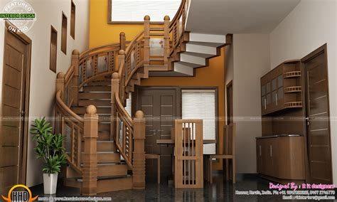 stair design wooden stair kitchen  living