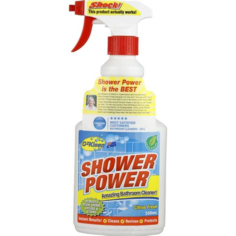 power bathroom cleaner ozkleen shower power shower cleaner trigger 500ml woolworths