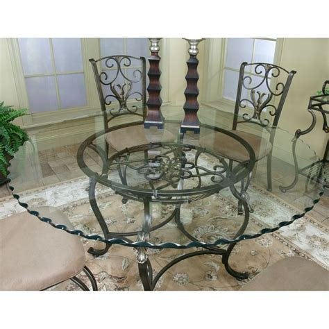 cramco j9811 4 wescot glass top dining table