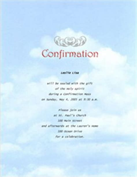 confirmation invitations templates clip art and wording