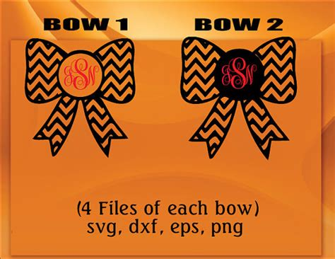 Moultrie Upholstery Chevron Bows Svg Dxf Png Esp 8 Files Instant