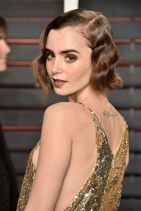 lily collins vanity fair oscar 2016 party in beverly