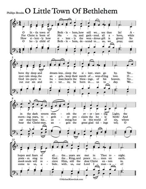 lagu 15 o little town of betlehem free choir sheet music o little town of bethlehem