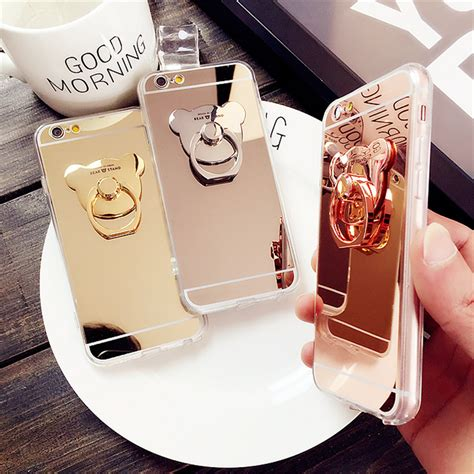 Ultrathin Mirror Iphone 5 5g 5s Softcase Soft Tpu Ultra Thin mirror ultra thin clear soft gel ring holder phone cover for iphone x 8 7