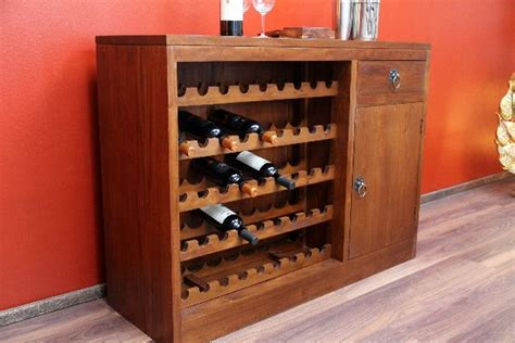 Regal Braun Massivholz by Weinregal Weinschrank Bar Regal Wein Massivholz