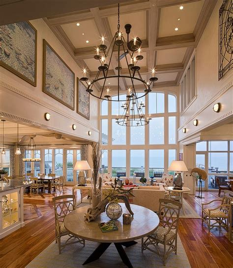 Great Room Chandeliers Sizing It How To Decorate A Home With High Ceilings