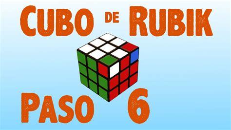 tutorial cubo rubik paso a paso resolver cubo de rubik paso 6 youtube