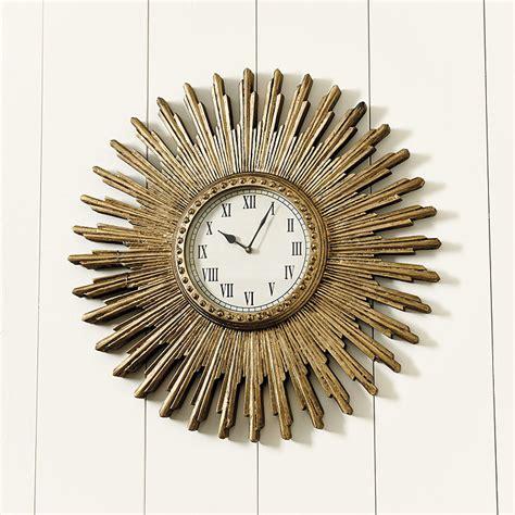 ballard designs clocks clara sunburst clock ballard designs