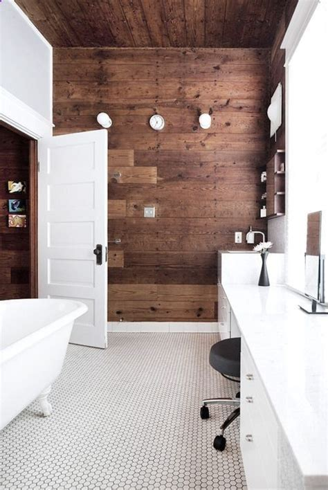 wood accent wall bathroom white bathroom with wood accent wall bathroom reno ideas