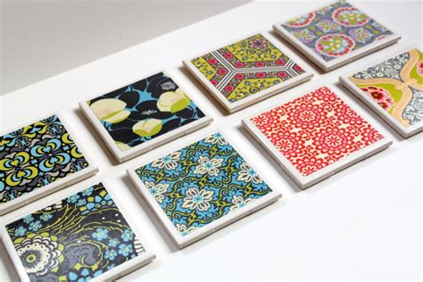 Handmade Tile Coasters - tile coaster tutorial the cottage