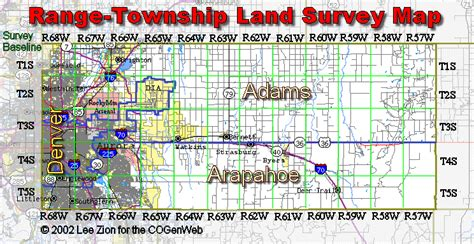 Arapahoe County Marriage Records Township Range Map Arapahoe County Cogenweb