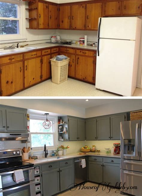 Upgrading Kitchen Cabinet Redo Doors Amazing Transformation Just | before and after kitcchen it started with kitchens
