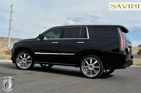 cadillac escalade black rims escalade savini wheels