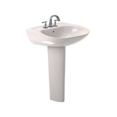 Toto Prominence 26 In Pedestal Combo Bathroom Sink With Toto Bathroom Sink Faucets