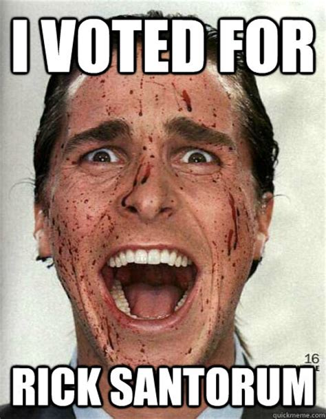 Rick Santorum Meme - i voted for rick santorum confused christian bale