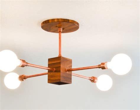 diy hanging light fixtures diy copper and wood hanging light fixture shelterness