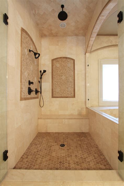 Walk In Shower Ideas For Small Bathrooms ivory travertine tile bathroom traditional with bathroom