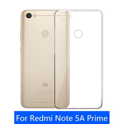 Xiaomi Redmi Note 5a Prime Tpu Clear Soft Cover Casing Transparan ultra thin tpu gel rubber soft skin cover for redmi note 5a prime