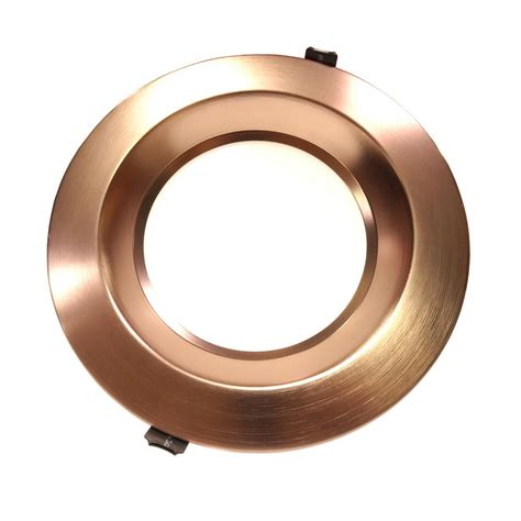 free housing nicor housing free 8 in bronze integrated led recessed downlight kit in 3500k clr8 10