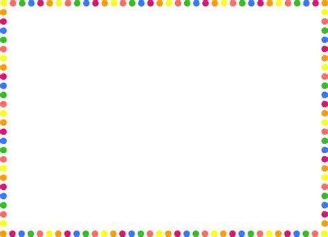 Colorful Border Clipart Clipartsgram Com Colorful Page Borders