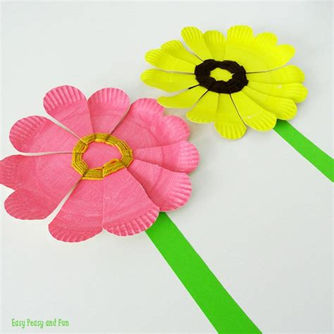 Paper With Preschoolers - paper plate flower weaving easy peasy and