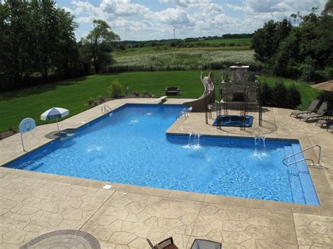 L Shaped Pool Designs | custom l shaped pool designed by aqua pools and built in