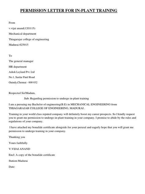 Request Letter Format Industrial Visit A Sle Request Letter Demanding For School Fees Receipt