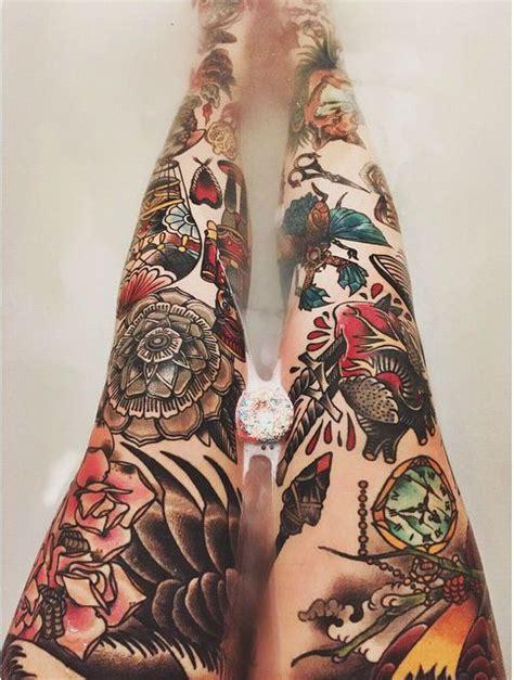 tattoo old school mujer im 225 genes de tatuajes en la pierna