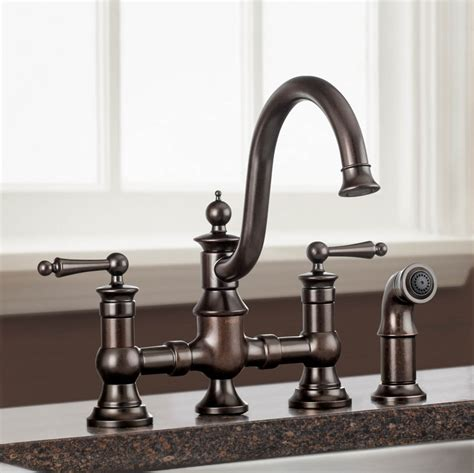 moen waterhill rubbed bronze kitchen faucet wow