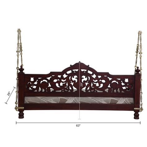wooden swing chair indoor home decor furniture indian traditional jhoola 100113