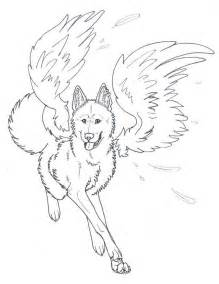 Coloring Pages &gt Winged Wolf 48860 2 sketch template
