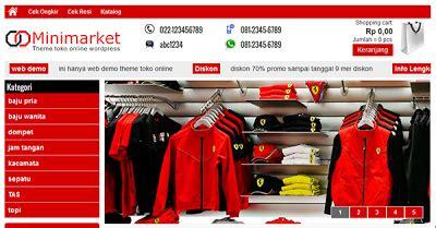 Theme Toko Online Lokomedia | template toko online keren ala wordpress it sasak